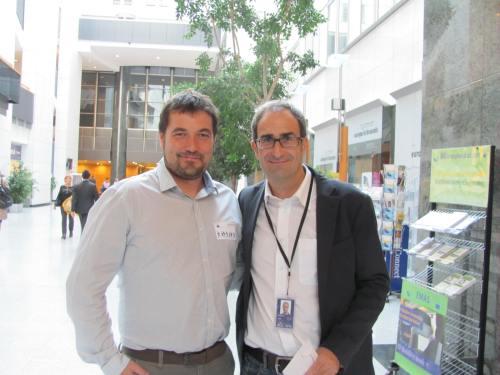 Alberto Celma y Jordi Sebastià en el Parlamento Europeo