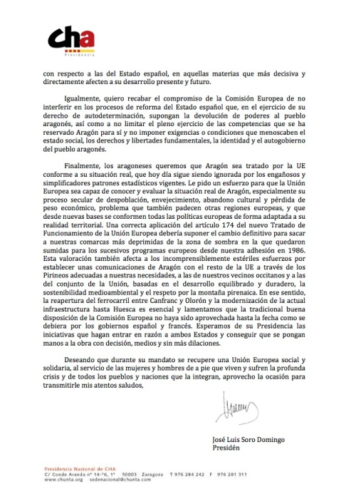 Carta de Soro á Juncker 2